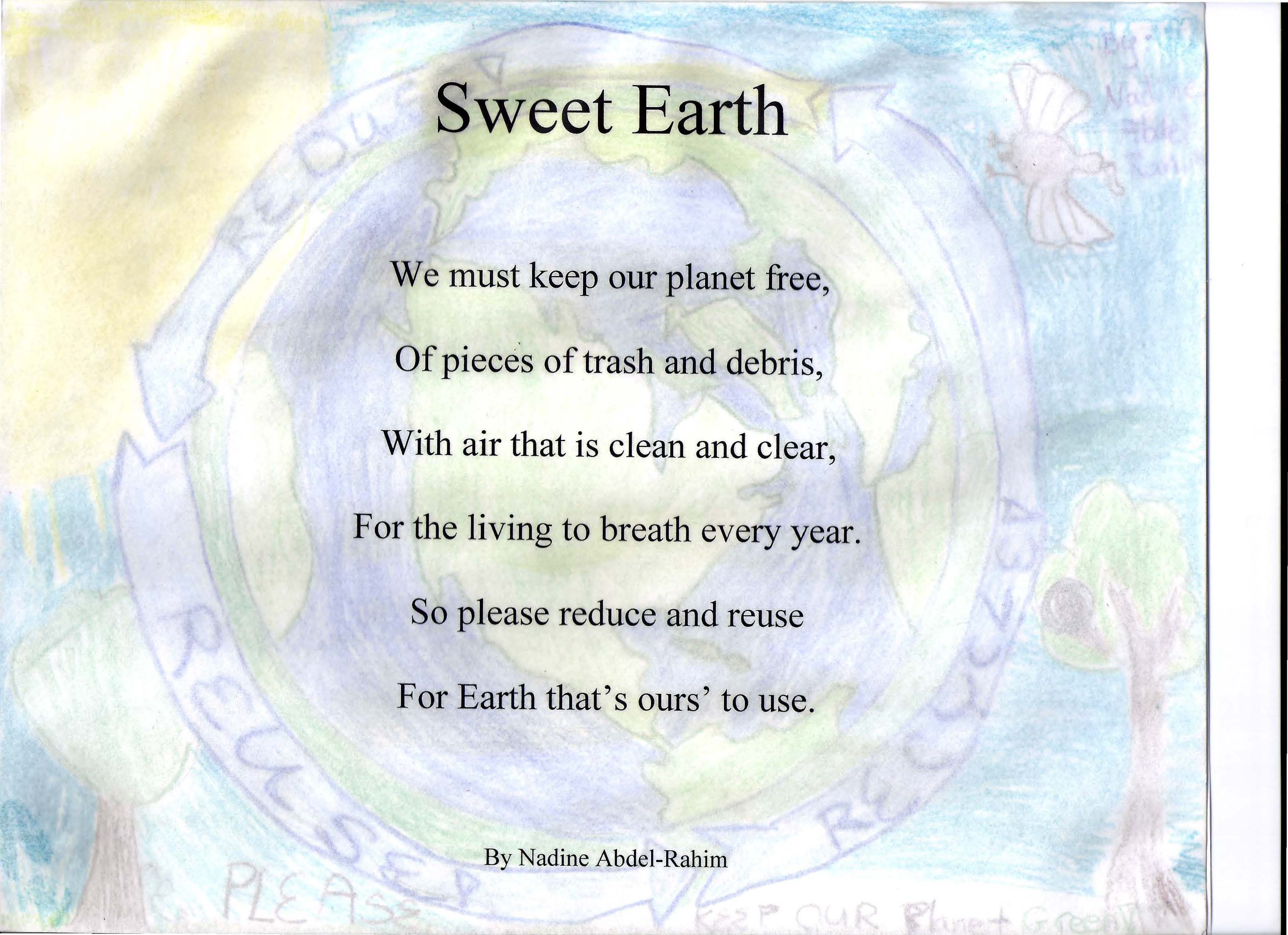 Chemists Celebrate Earth Day (CCED) 2012 Illustrated Poem Contest ...