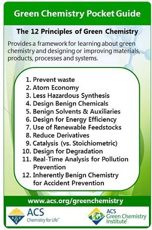 12 principles of green chemistry american chemical society