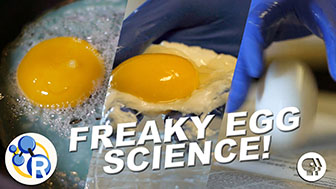 """Cook"" an Egg with No Heat!? (Egg-cellent Weird Science Experiments) image"